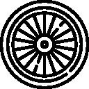 kotač bicikli ikone biciklisti