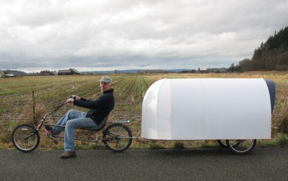 mini kamper za bicikl - putovanje biciklom izgraditi kamper biciklisti vožnja bicikla cikloturizam biciklisti izgradnja